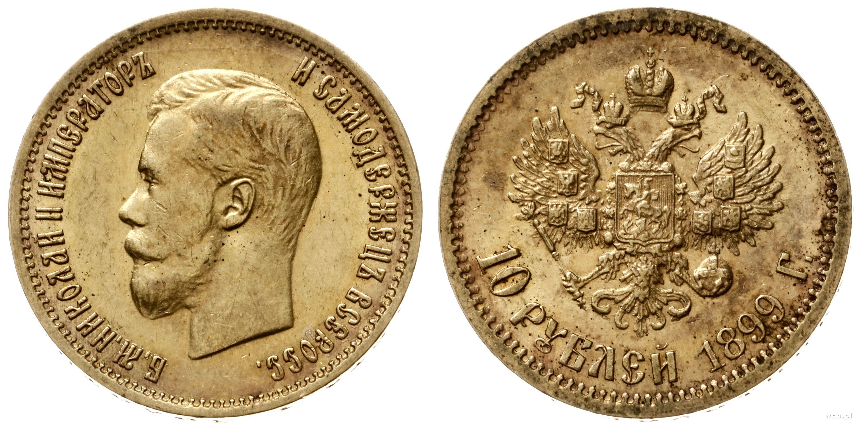 Moneta 10 rubli 1899