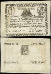 Włochy, asygnata na 9 paoli, 7. rok republiki (1798-1799)