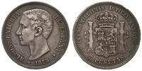 Hiszpania, 5 peset, 1875 DE-M