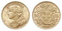 Szwajcaria, 20 franków, 1922/B