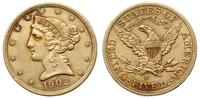 Stany Zjednoczone Ameryki (USA), 5 dolarów, 1902/S