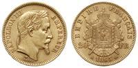 Francja, 20 franków, 1865/A