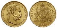 Austria, 8 florenów = 20 franków, 1892