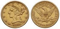 Stany Zjednoczone Ameryki (USA), 5 dolarów, 1881