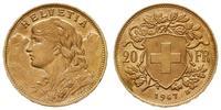 Szwajcaria, 20 franków, 1947 B
