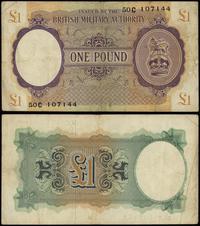 Wielka Brytania, 1 funt, 1943-1945