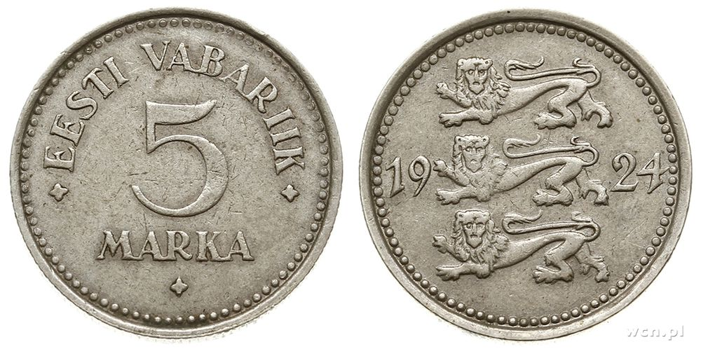 Estonia, 5 marek, 1924