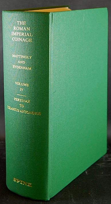 Mattingly, Sydenham - The Roman Imperial Coinage- Vol. IV Pertinax to Uran..