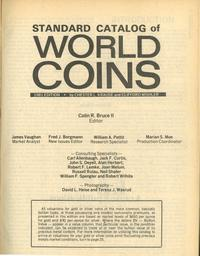 wydawnictwa zagraniczne, Standard Catalog of World Coins, Chester L. Krause and Clifford Mishler, 1..